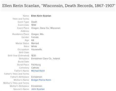 Wis Records Townland Of Origin We Are The 3 75 Wisconsin Records