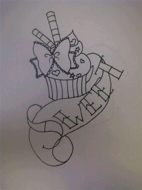 sweet cupcake tattoo design by ragdollgoddess16 on deviantart