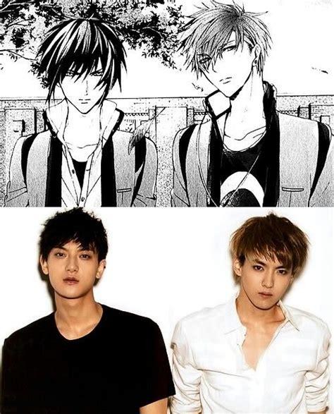 anime tao exo tao kris looks like anime exo