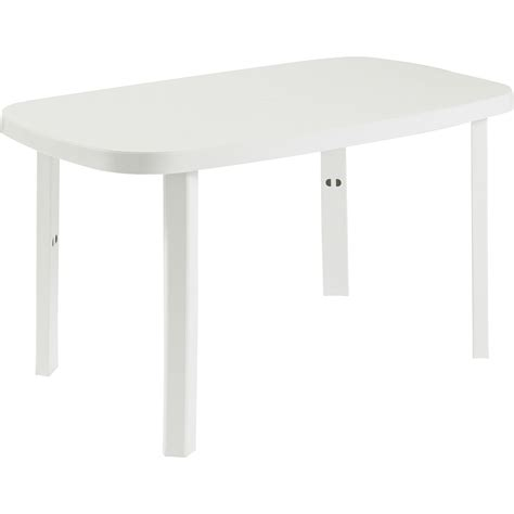 Table Salon De Jardin Pvc Blanc