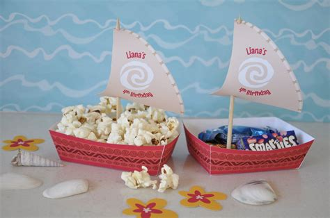 moana boat snack moana polynesian boat food snack trays and sail toppers