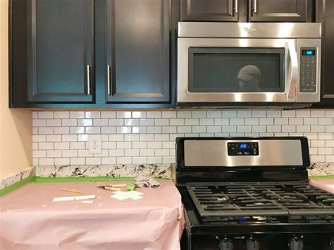 subway tile backsplash new how to install a kitchen