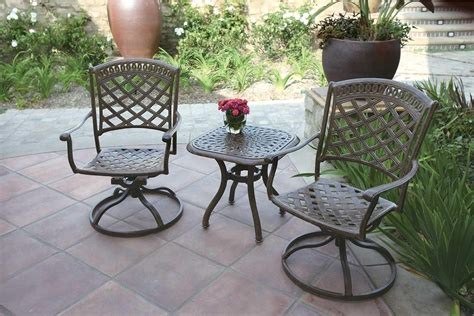 swivel patio furniture patio furniture rocker swivel cast aluminum chair 3pc sedona