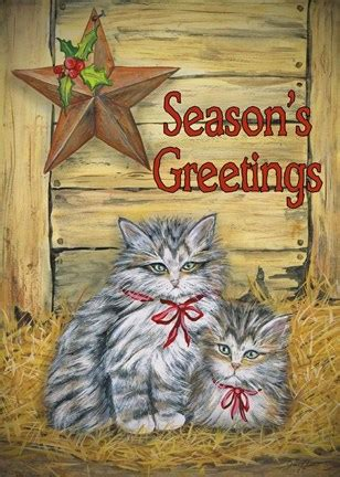 cats  barn seasons  fine art print  jean
