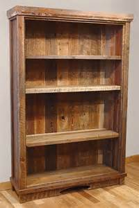 Rustic Wood Bookshelves Reclaimed Barn Wood Rustic Heritage Bookcase