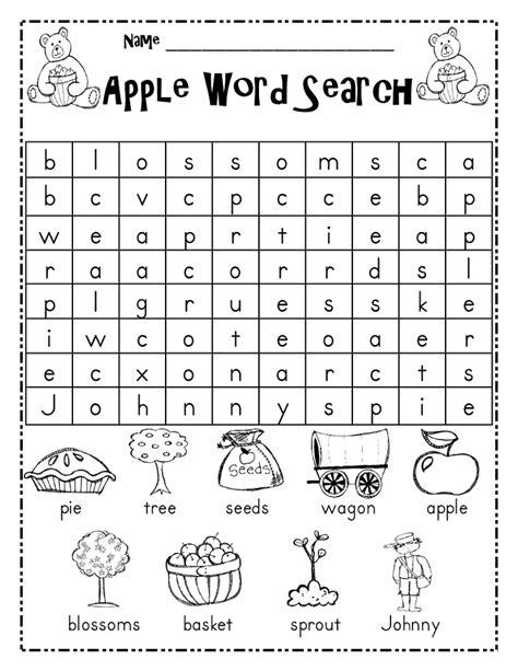 printable area mac word free kid word searches activity shelter