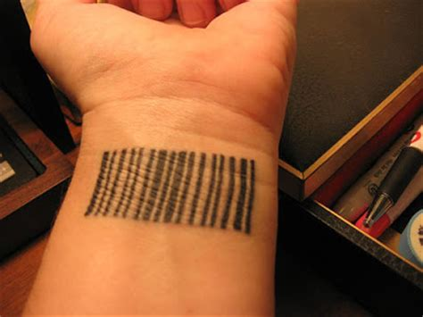 barcode tattoo wrist barcode tattoos damn cool pictures