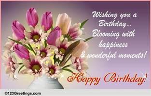 happy birthday flower card messages birthday flowers cards free birthday flowers ecards