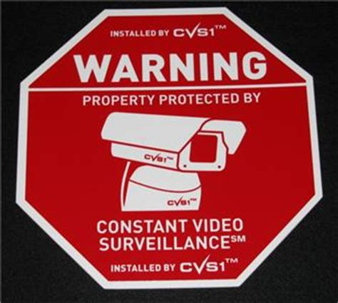 home security system cctv alarm yard sign sale ebay