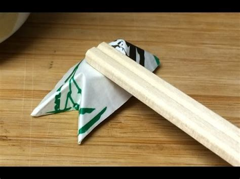 Origami Chopstick Holder - origami chopstick rest 1 folded out of a chopstick