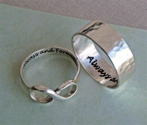 his and hers infinity ring set always and forever rings for