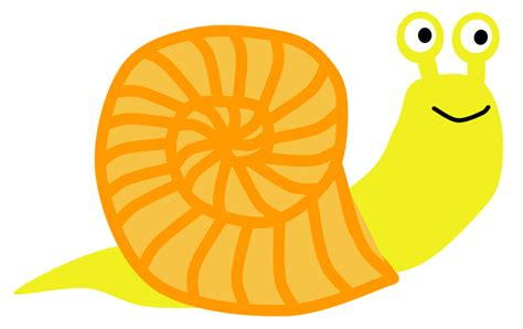 Snail 311 Orange Riject snail clipart clipart panda free clipart images