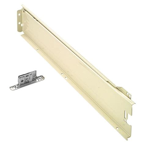 drawer brackets lowes shop blum 2 pack 18 in self closing drawer slide at lowes