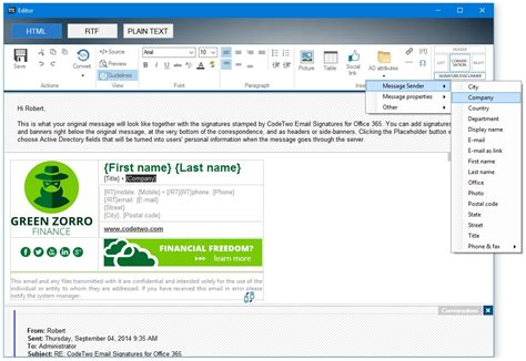 Codetwo Email Signatures For Office 365 Screenshots Office 365 Email Templates