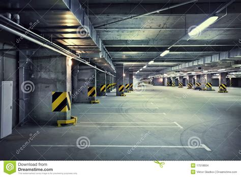 Dirty Basement by Underground Parking Stock Images Image 17518604