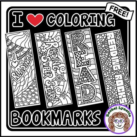 printable elementary bookmarks free coloring book marks great way to de stress after