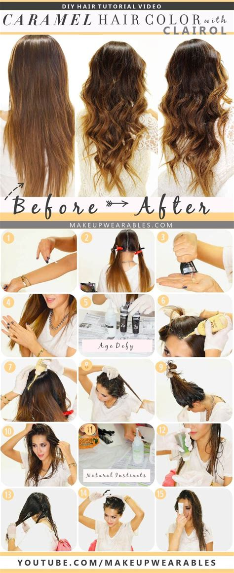 how to color your hair at home caramel brown ombre
