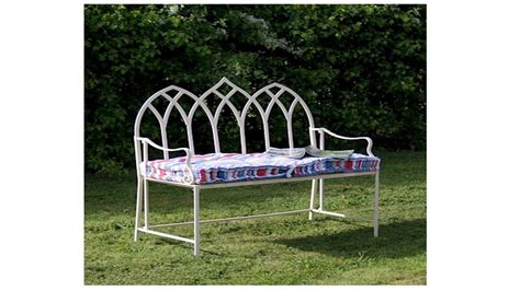 metal garden bench uk gothic cream metal garden bench homegenies
