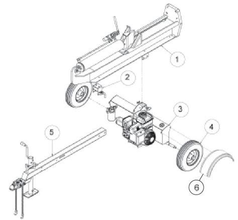 speeco  ton log splitter parts diagram sbb foards