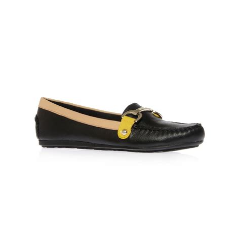 klein loafer shoes klein shelton loafer shoes in black for lyst