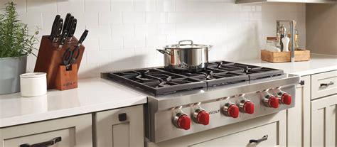 cooktop versus range top wolf 36 quot sealed burner rangetop 6 burners srt366