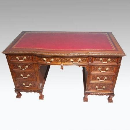 Mahogany Desks For Sale by Carved Mahogany Pedestal Desk For Sale Antiques