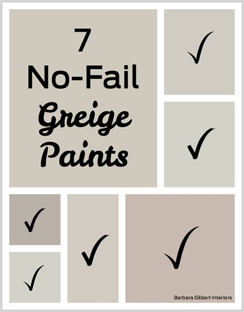 7 no fail greige paints