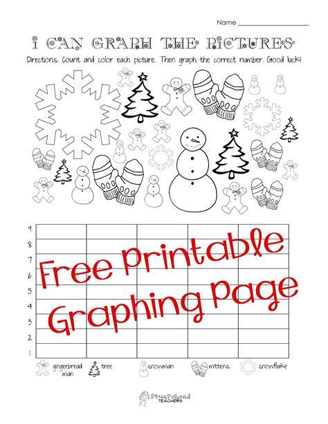 free christmas winter graphing worksheet kindergarten