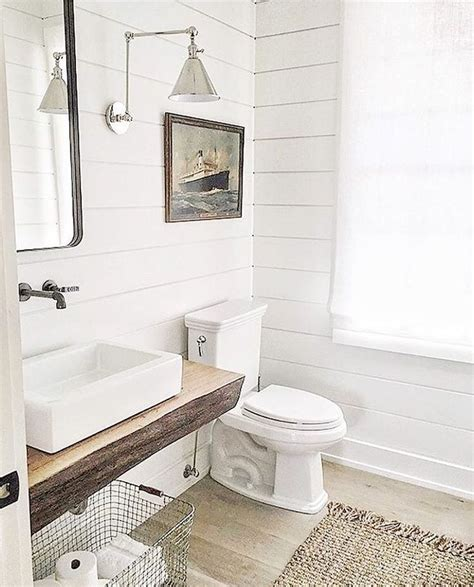 fertige vorhangschals shiplap in the bathroom remodelando la casa 10