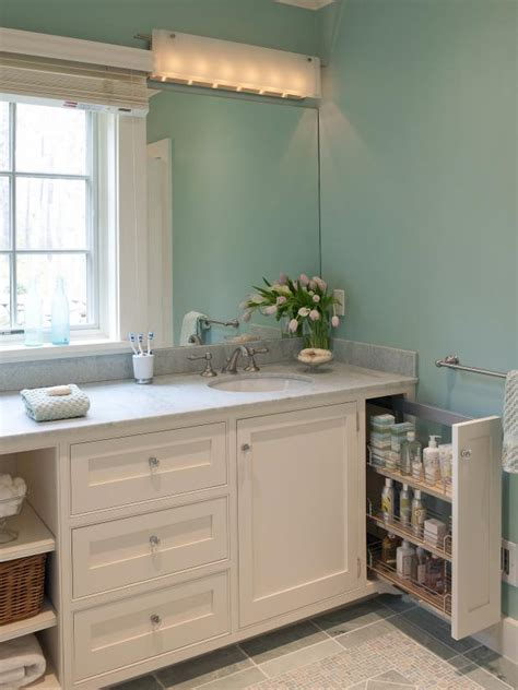 pull out storage drawer in bathroom vanity hgtv