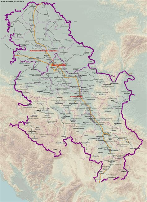 karten und stadtpl 228 ne serbien