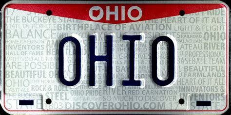 Ohio Bmv Vanity Plates vehicle registration plates of ohio