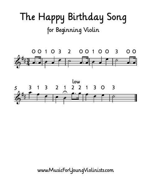 Violin Songs For Beginners With Letters