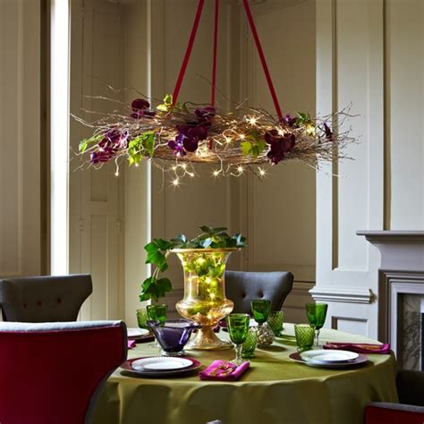 home decor christmas ideas add festive lighting to the christmas table christmas