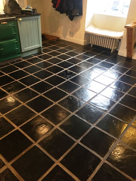 tile floor maintenance deep cleaning very dirty slate tiled kitchen tiles