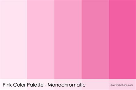 color combination with pink color palettes chic productions
