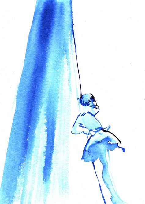 Blus Fashion2 blue ink fashion illustration baiba ladiga illustration
