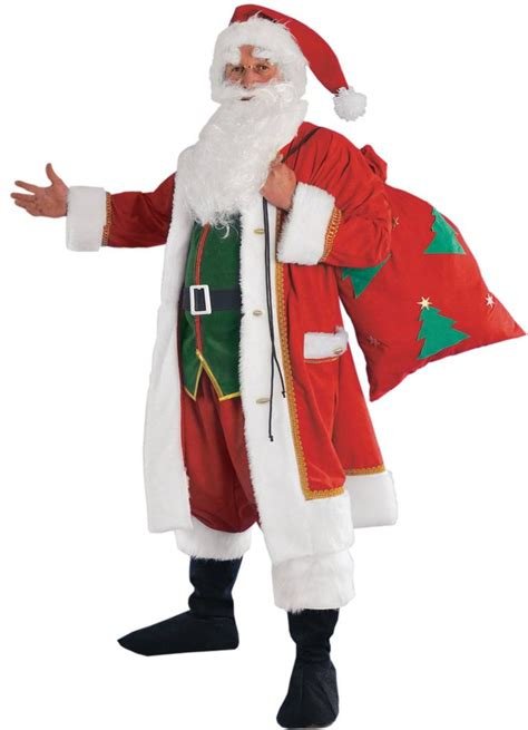 costumes santa claus deluxe festive santa claus costume by stamco 442221