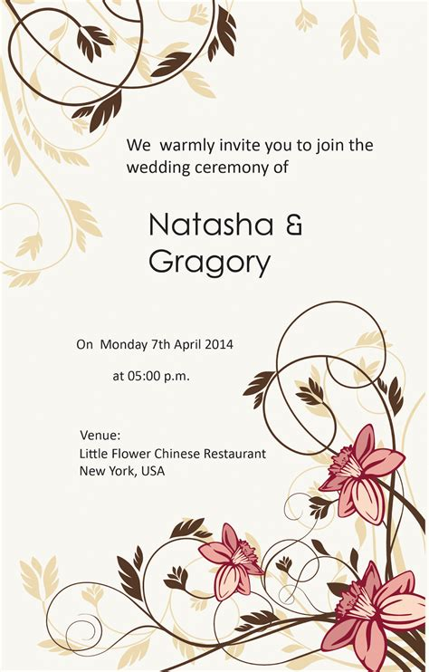 Wedding Invitation Letter Vector Modern Wedding Invitations For You Wedding Invitation Letter In Bengali