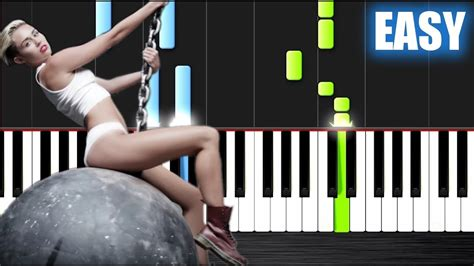 miley cyrus wrecking ball piano tutorial by plutax miley cyrus wrecking ball easy piano tutorial by