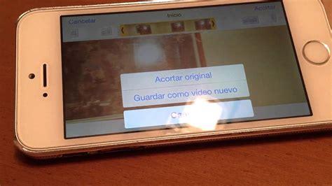 aplicacion cortar videos cortar videos en iphone ipad youtube