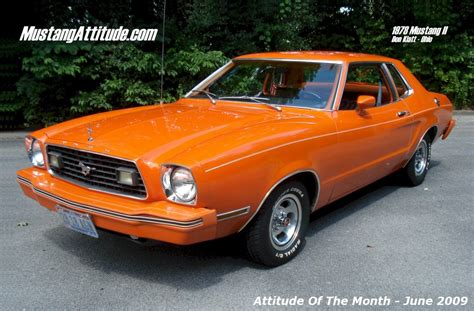 1978 ford mustang ii tangerine orange 1978 ford mustang ii coupe aotm