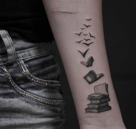 amazing book tattoos  literary lovers wings