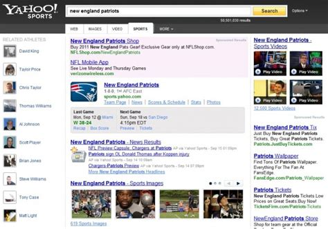 yahoo web page layout yahoo search launches new design and features search