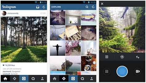 layout from instagram windows instagram for android update takes design cues from ios