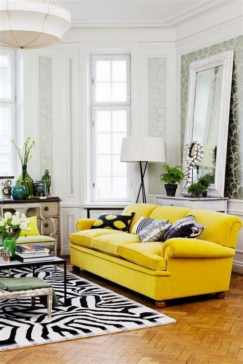 living room with yellow sofa living room yellow couch animal print all things