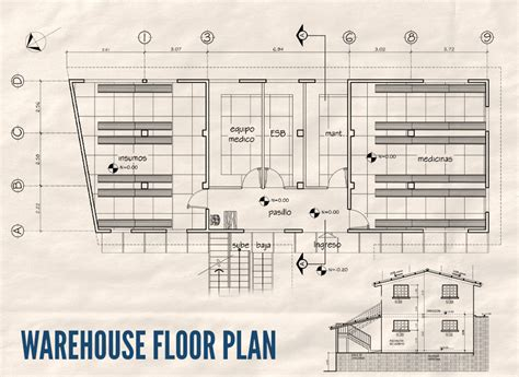 floor plan of warehouse warehouse blueprint home design