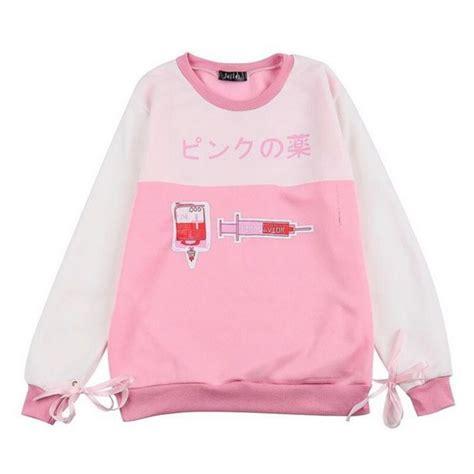 Kawai Sweater Pink sweater pink kawaii fall sleeves harajuku japanese kawaii pink fleece