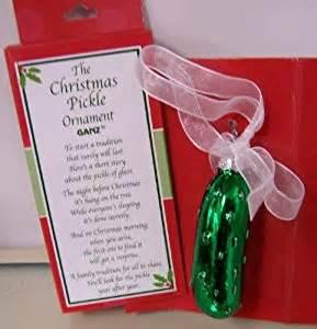 amazon com ganz the christmas pickle ornament home kitchen