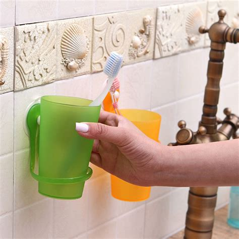bathroom cup holders wall mount toothbrush toothpaste holder bathroom wall mounted toothbrush cup with sucker alex nld
